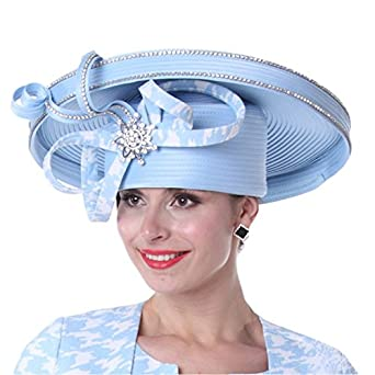 Kueeni Women Hats Church Hats For Ladies Ribbons Big Hat at Amazon ... b5f5ffc48b1