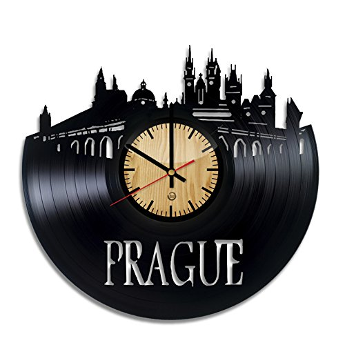 Prague Record Wall Clock - Get unique of living room wall decor - Gift ideas for girls and boys – Capital Unique Art - Stores Airport Manchester