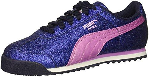 (PUMA Unisex Roma Glamour Kids Sneaker, Peacoat-Orchid, 7 M US Big)