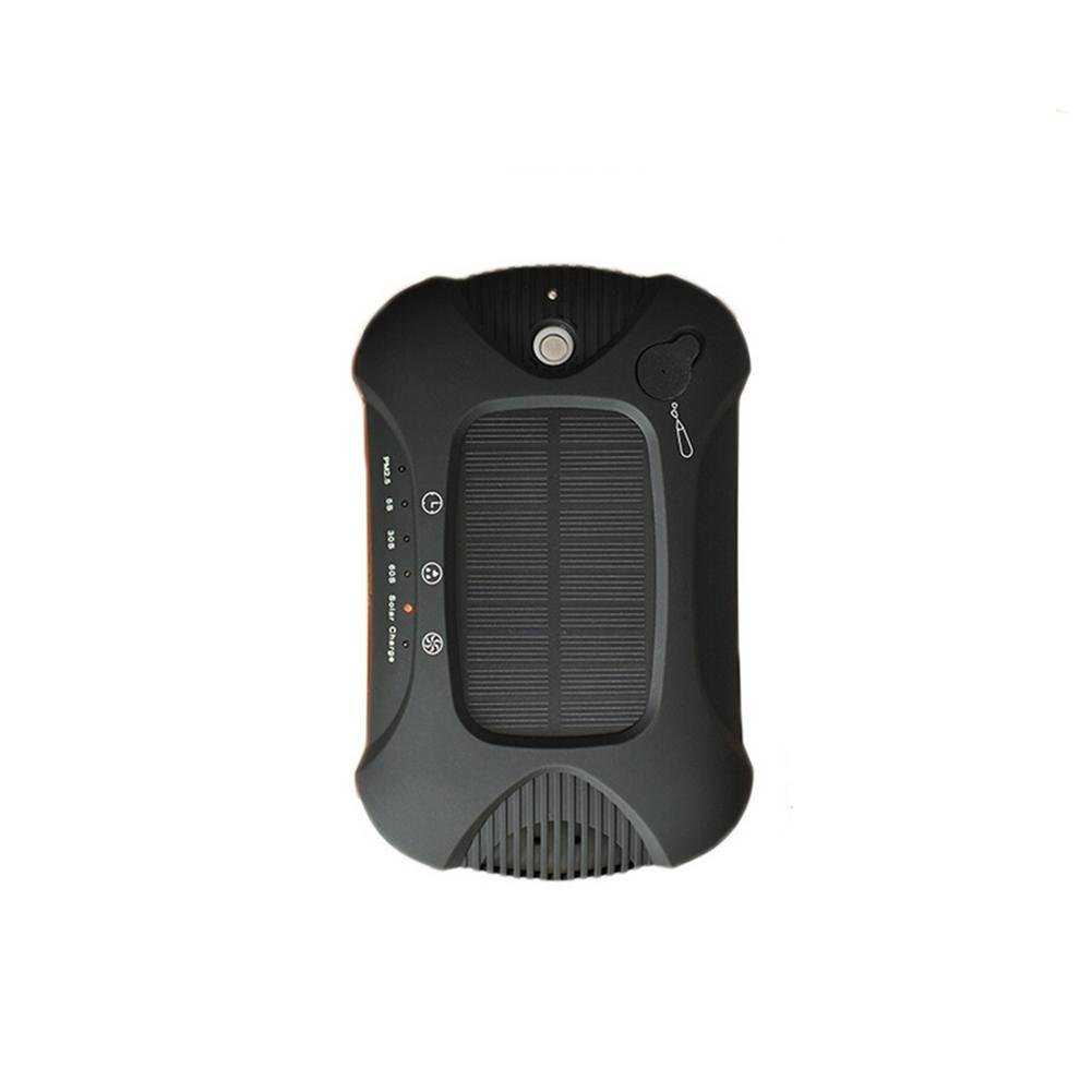 Car Humidifier Aroma Solar Intelligent Anion Car Oxygen Bar Air Purifier Gift , black