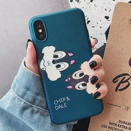 Amazon.com: Chip n Dale - Carcasa de silicona y TPU para iPhone