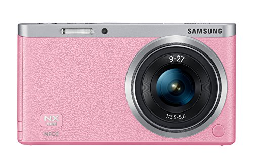 Samsung NX Mini 20.5MP CMOS Smart WiFi & NFC Mirrorless Digital Camera with 9-27mm Lens and 3'' Flip Up LCD Touch Screen(Pink) by Samsung