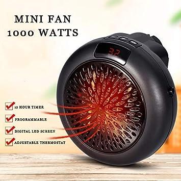 Radiateur Soufflant Mini Chauffage Portable ChauffageElectriqueVentilateur Chauffe Air Ventilateur Puissant 1000 Watts
