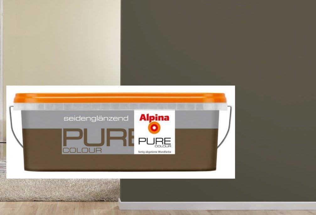 Alpina Pure Colour 2 5 L Wandfarbe Innen Kokos Seidenglanzend Grau Braun Mokka Amazon De Baumarkt