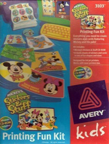 Mickey's Stickers & Stuff Printing Fun Kit - Avery (Best Avery Kids Stuffs)