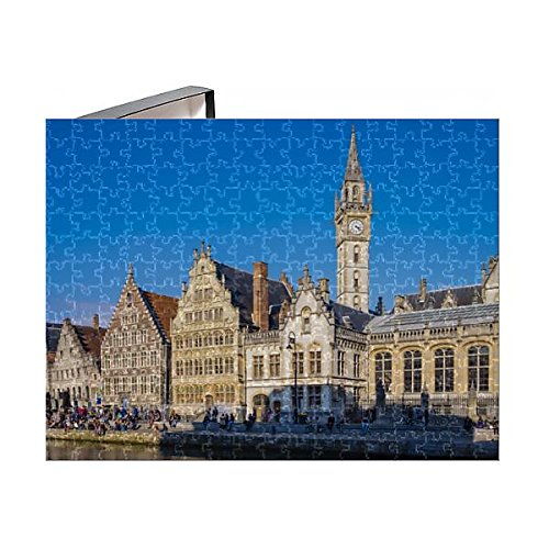 Robert Harding 252 Piece Puzzle of Clocktower of Former Post Office and medieval guild houses on Graslei (13179664) (Post Clock Office)