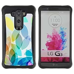 Suave TPU GEL Carcasa Funda Silicona Blando Estuche Caso de protección (para) LG G3 / CECELL Phone case / / Green Blue Abstract Shapes Blue /