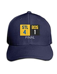 Moore Me Adjustable Baseball Cap Blue St. Louis 2019 Champions Scoreboard Cool Snapback Hats