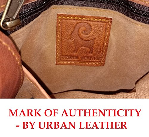 Handmade Leather Travel Duffle Bag Vintage Style Overnight Bag Size 20 Inch by Urban Leather (Image #5)