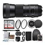 Photo : Sigma 150-600mm 5-6.3 Contemporary DG OS HSM Lens for Nikon DSLR Cameras w USB Dock + 64GB Travel Bundle