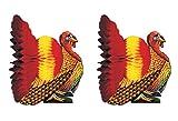 Beistle S99066AZ2 Tissue Turkey Centerpieces 12'', Pack of 2