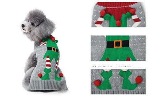 984dee6e4245 HAPEE Dog Sweaters Christmas Santa Pet Cat Clothes