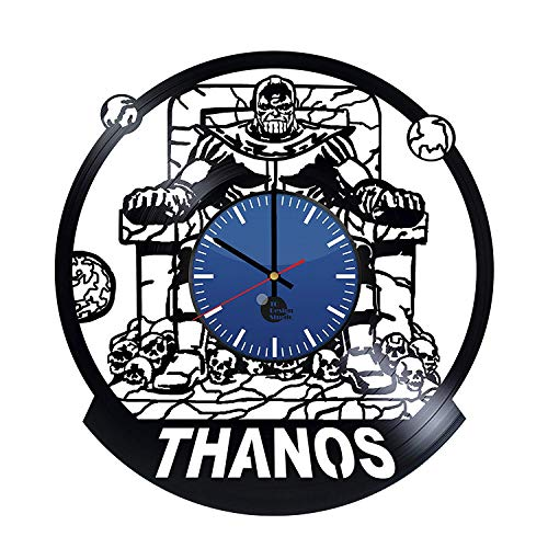 Thanos Comic Handmade Vinyl Record Wall Clock - Get Unique Home and Office Wall Decor - Gift Ideas for Boys and Girls - Thanos Marvel Unique Art Design - Leave us a Feedback and Win Your Custom Clock