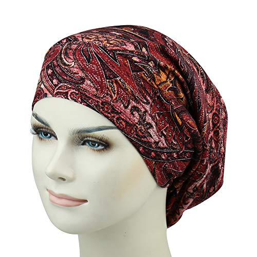 Best Hair Bonnet Cap For Curly Hair Snug Fit Hats Stay On All Night Sleep Headwear by FocusCare