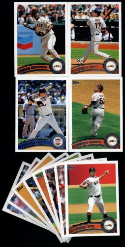 (2011 Topps San Francisco Giants Complete Series 1 & 2 Team Set - Shipped in Protective 4 Pocket Ultra Pro Storage Album! 25 Cards including 2 Buster Posey cards, Renteria, Huff, Torres, Ford RC, Cody Ross, Pat Burrell, Lincecum, Brandon Belt RC & more!)