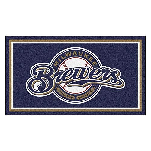 Milwaukee Brewers Rug - MLB Milwaukee Brewers 3 Ft. x 5 Ft. Area RUG3 Ft. x 5 Ft. Area Rug, Navy, 3' x 5'