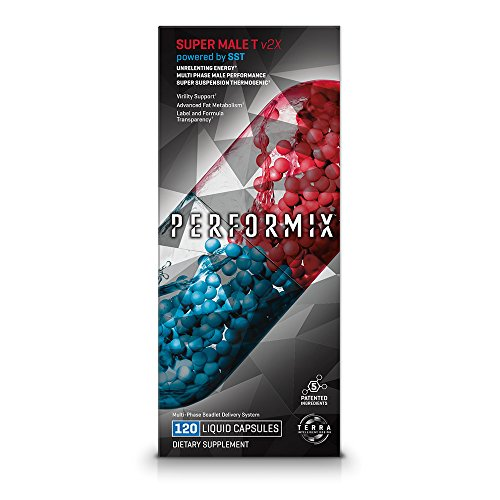PERFORMIX Super Male T v2X Energy, Male Performance, Fat Metabolism, Virility - 120 Capsules