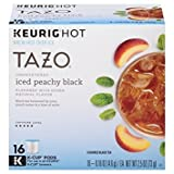 Tazo Unsweetened Iced Peachy Flavored Black Tea 16 K-cup
