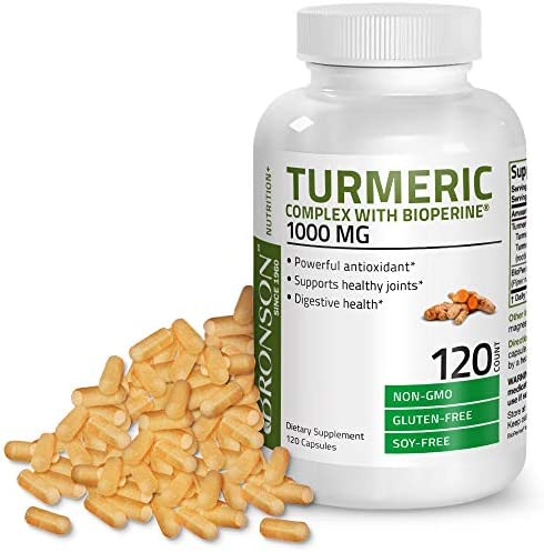 Turmeric Curcumin with BioPerine – High Potency Premium Joint Support with 95 Standardized Curcuminoids – Non-GMO Capsules with Black Pepper – 120 Count