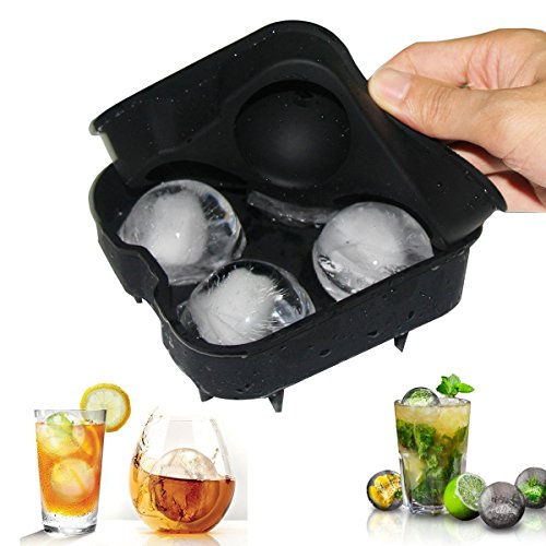 Bargain Personalized Ice Ball Maker - Novelty Food-Grade Silicone Ice Mold Tray - Make 4 X 4.5cm ice ball Capacity Sphere Ice Mold - Ball Whiskey Baking Chocolate Soap - Star Wars Lovers or Party Theme reviews