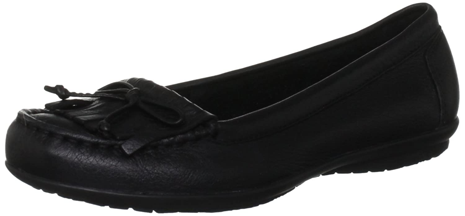 da94816d5e6 Hush Puppies Black Ceil Mocc Fringe Detail Womens Loafer Shoes best ...
