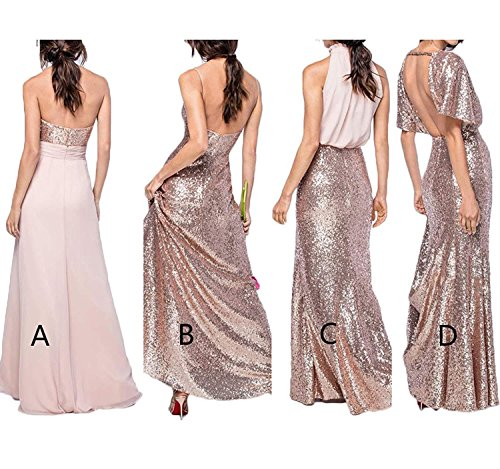 Formal V Long Silver Prom Bridesmaid Wedding Staypretty Dresses Ruffled Dress Cap Sleeve Party b Backless Dresses Gown Neck Sequins 1OnTdq6