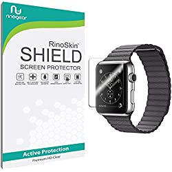 Apple Watch 42mm (Series 1 / Series 2 / Series 3) Screen Protector [6-PACK] [Military-Grade] RinoGear Sport Premium HD Invisible Clear Shield w/ Lifetime Replacements