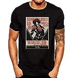 XUNLINLL Megalo Box Gearless Joe Poster Men's T Shirt Black