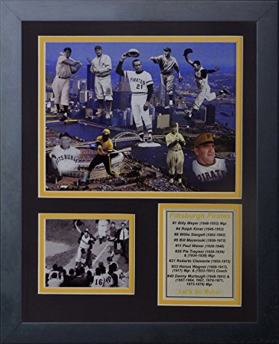 Legends Never Die MLB Pittsburgh Pirates All-Time Greats Framed Photo Collage, 12