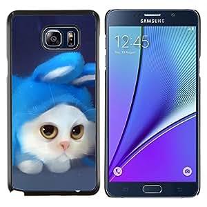 EJOOY---Cubierta de la caja de protección para la piel dura ** Samsung Galaxy Note 5 5th N9200 ** --Gato divertido lindo