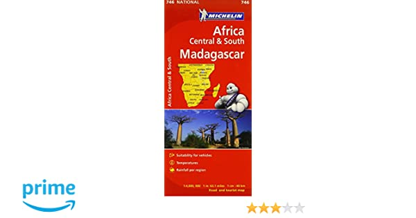 746 South and Madagascar Map No Michelin Africa Central