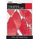 9ft Red Tissue Paper Fringe Garland