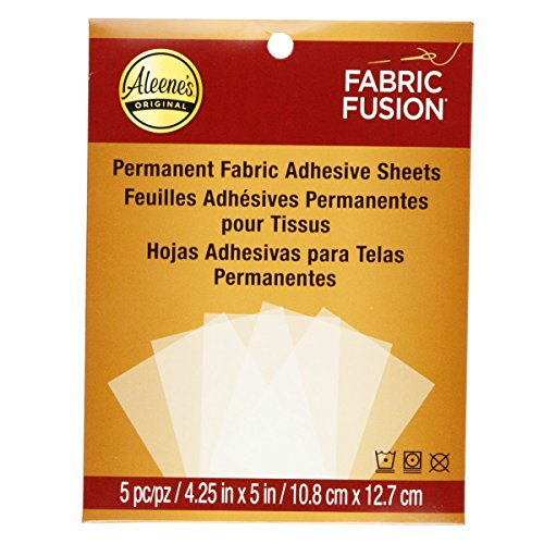 (Aleene's Fabric Fusion Permanent Adhesive Sheets 5pc)