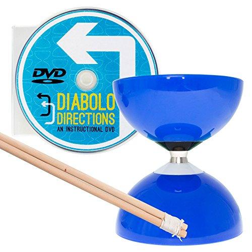 - Blue Carousel - Fast Bearing Diabolo Set, Hardwood Diablo Sticks, Pro String & Diabolo Directions DVD!