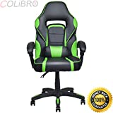 COLIBROX--Executive Racing Style PU Leather Gaming Chair High Back Recliner Office Green. best choice products executive racing office chair. high-back executive racing pu leather office chair green.