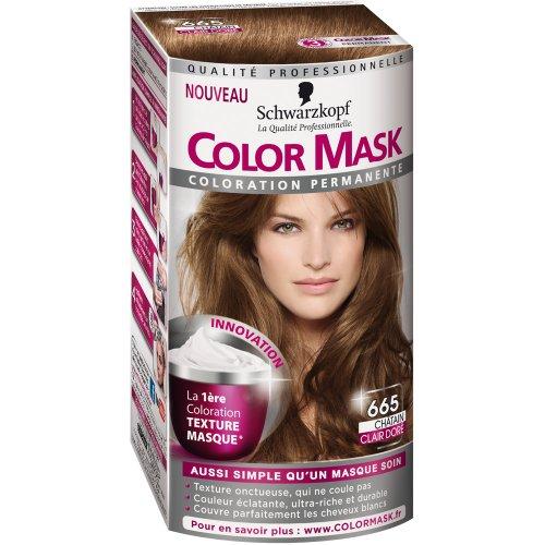 schwarzkopf color mask coloration permanente pour cheveux chtain clair dor 665 amazonfr hygine et soins du corps - Coloration Cheveux Chatain Clair