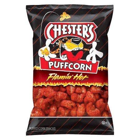 Chester's Puffcorn Flamin' Hot Pufffed Corn Snacks(2oz.) by Frito Lay (Image #1)