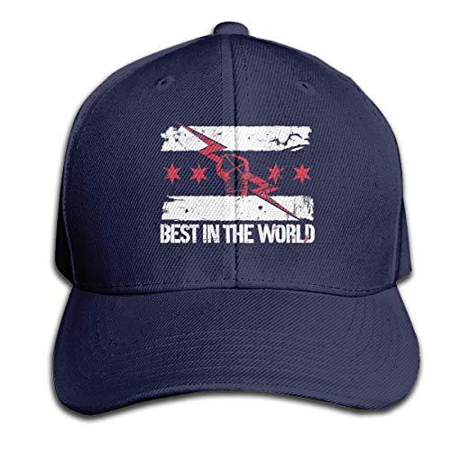 cm Punk Best in The World Mens Hat Baseball Caps Navy]()