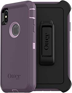 OtterBox DEFENDER SERIES SCREENLESS EDITION Case for iPhone Xs Max - Retail Packaging - PURPLE NEBULA (WINSOME ORCHID/NIGHT PURPLE)