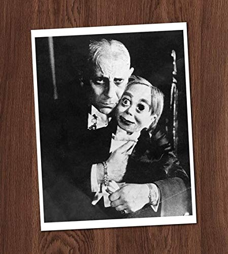 Ventriloquist Creepy Doll Dummy Missing Eye Vintage Photo Art Print 8x10 Wall Art Halloween UNframed]()