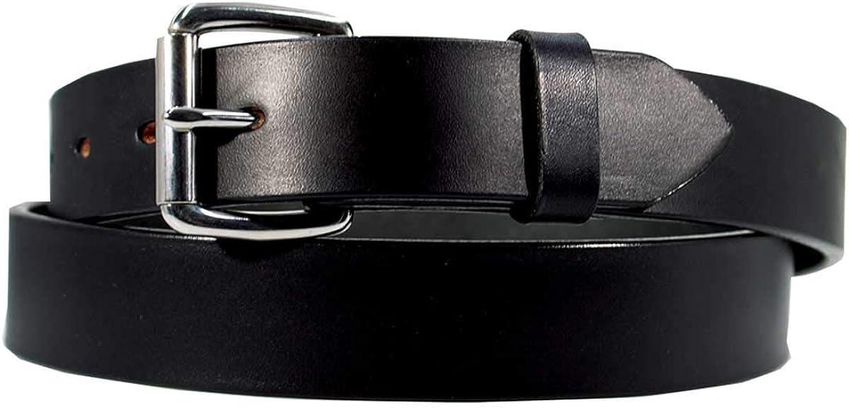 1 1//2 w//Brass Roller Buckle Mens Casual Latigo Leather Belt