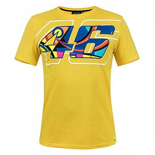 Valentino Rossi VR46 Moto GP Helmet Print Yellow T-Shirt for sale  Delivered anywhere in USA