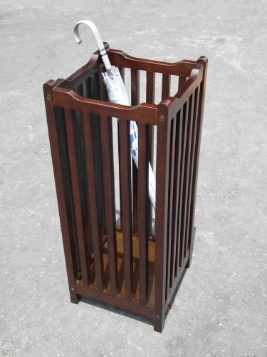 D-Art Visalia Umbrella Stand- in Mahogany Wood