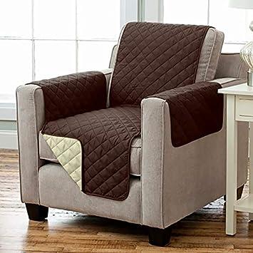 Kamaca Wende - Sesselschoner Sesselauflage Relax mit Armlehnen und Taschen Sessel Überwurf warm und weich zur Schonung der Po