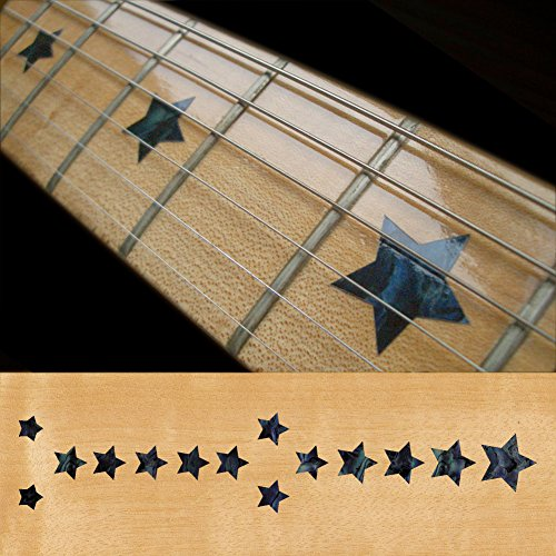 (Fretboard Markers Inlay Sticker Decals for Guitar & Bass - Everly Brothers Star - BP)