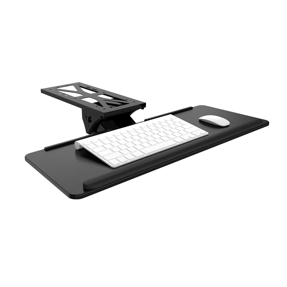 FlexiSpot Adjustable Computer Keyboard & Mouse Platform Tray Ergonnomic Under Table Desk Mount Drawer Shelf