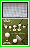 Golf Mat Golf Net Combo 9' x 15' High Velocity Impact Panel Plus a 3' x 5' Multi-Club Golf Mat; Free Ball Tray/Balls/Tees/60 Min. Full Swing Training DVD/Impact Decals and Correction Guide With Every Order! Everything You Need In One Package by Dura-Pro