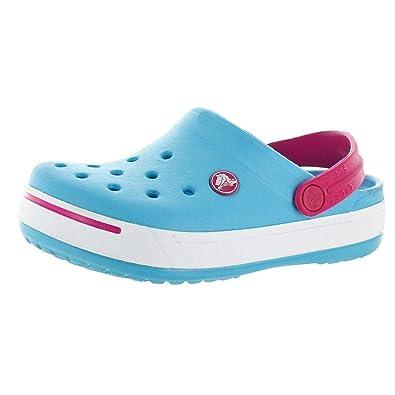 bc762392cd170 Amazon.com | Crocs Unisex Crocband II Clog (J2 (2M Little Kids), Electric  Blue/Candy Pink) | Clogs & Mules