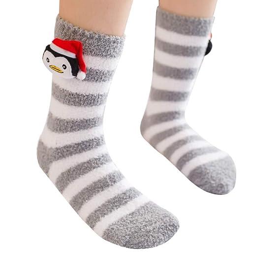 ZARLLE_Calcetines Navidad Calcetines, Cómodo Unisex Casual Navidad Cute Cartoon Animal Espesor Medias Dormir Calcetines: Amazon.es: Ropa y accesorios