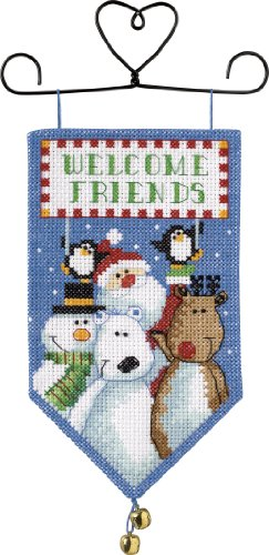 Dimensions Needlecrafts Counted Cross Stitch, Santa & Friend